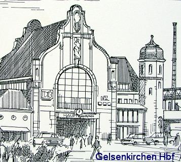 Gelsenkirchen Hbf, ca. 1960, Keramikfliese