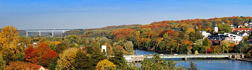 Die Ruhr und Essen-Kettwig im Herbst 2013