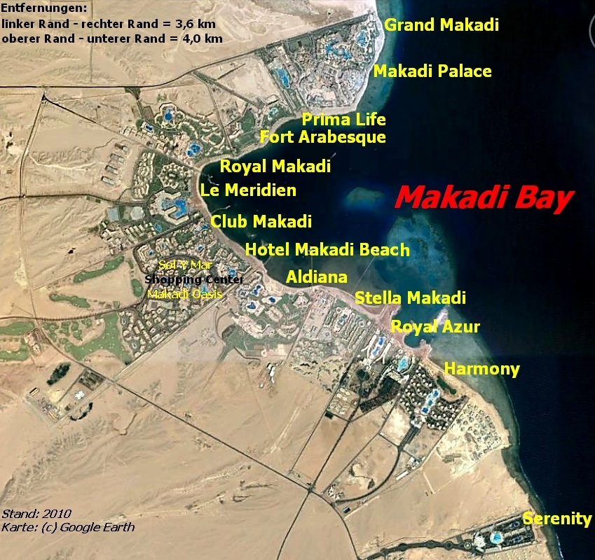Hotel Makadi Bay Egypt - Map of egypt hotels