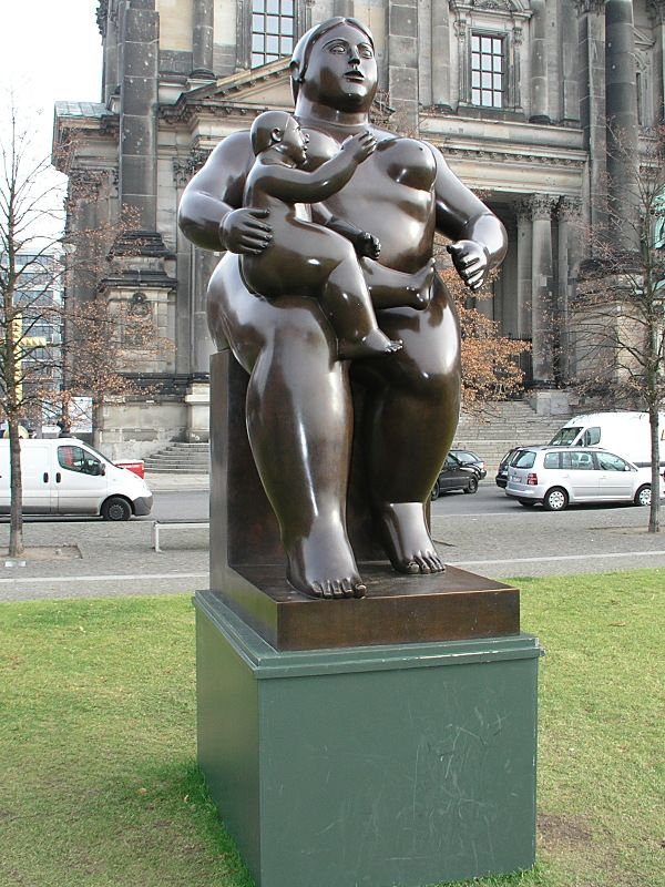 Botero: Sculpture Maternity 1999