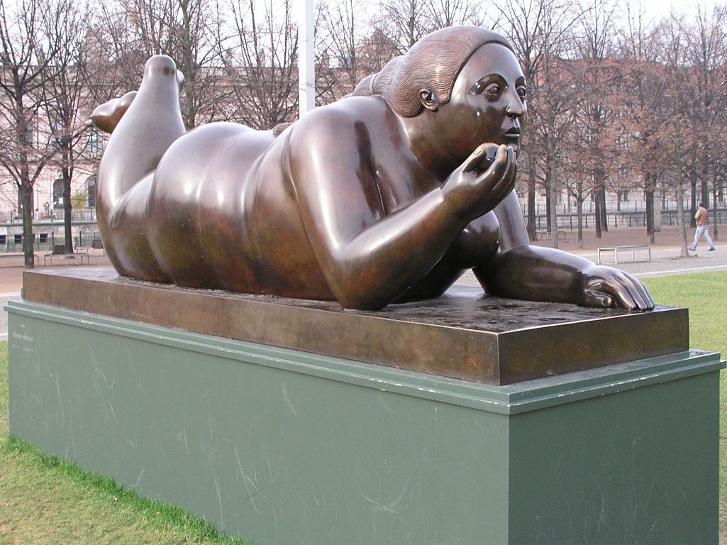 F. Botero, Woman with fruit, 1996