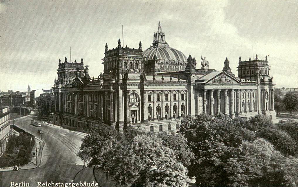 Reichstag Berlin um 1920  Reichstag Berli...