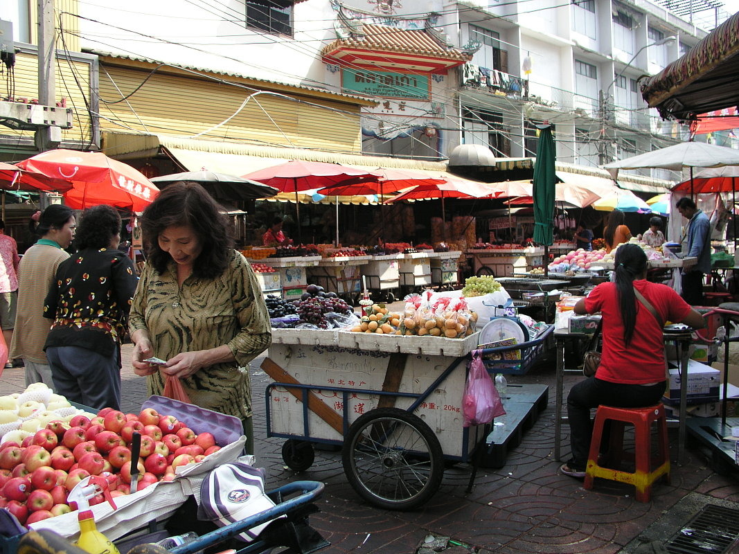Obstmarkt in Bangkok