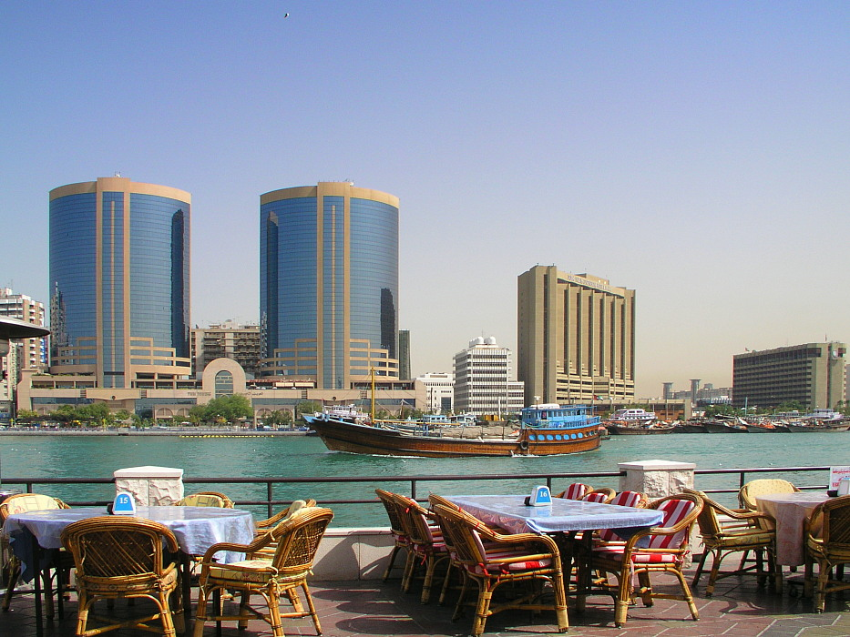 Dubai - Twin Towers und Fatafeet-Restaurant