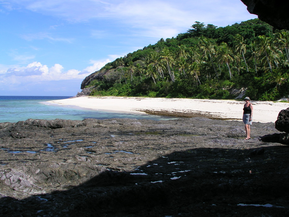 Matamanoa Fiji, small Beach