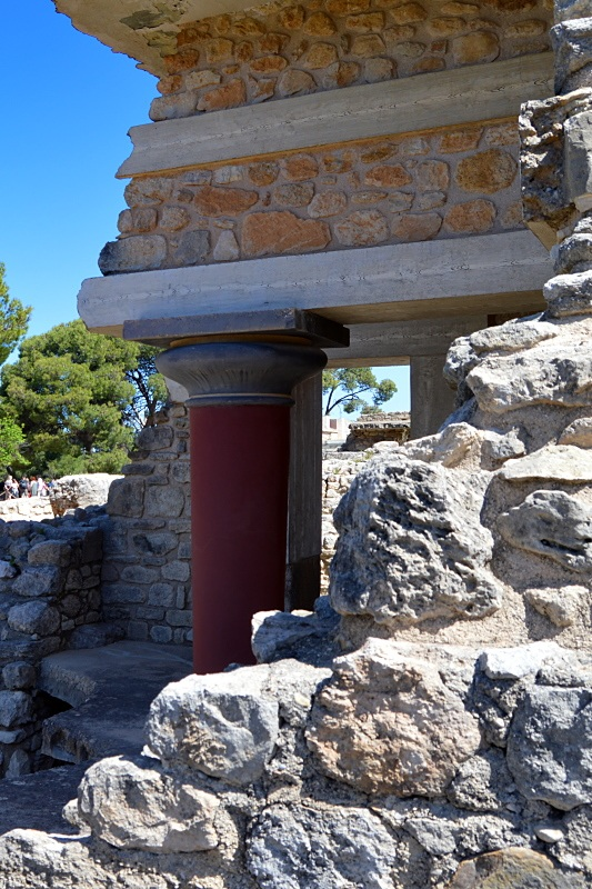 Restaurationsversuch in Knossos