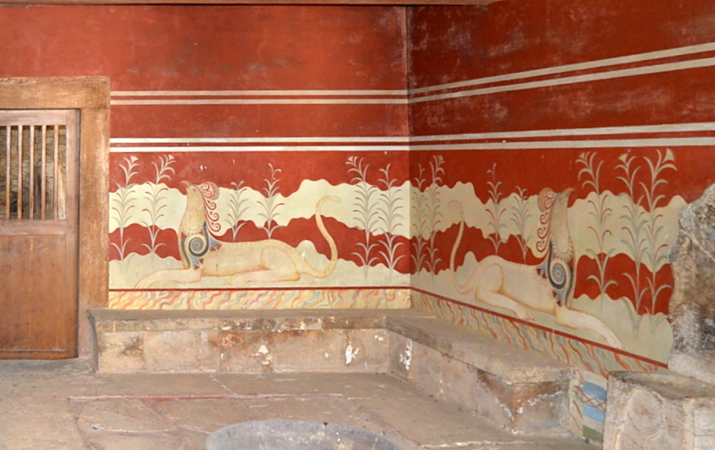 Thronsaal mit Fresko in Knossos
