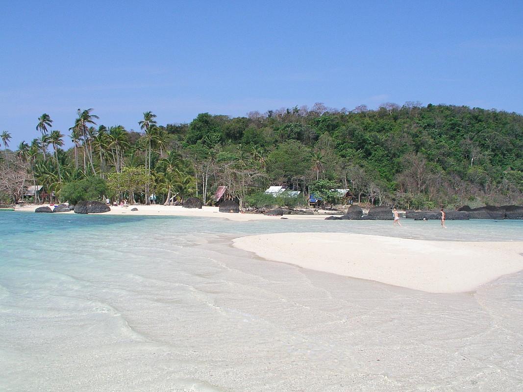 Sandbank auf Koh Kham