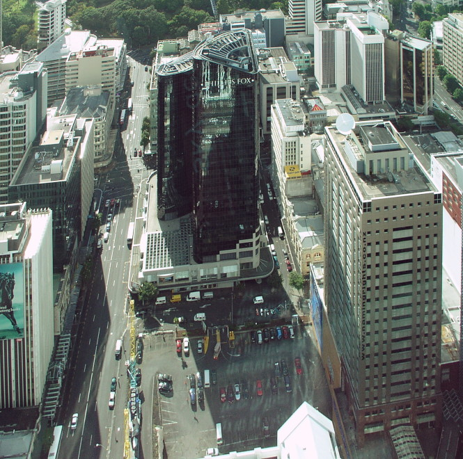 New President Hotel from Sky Tower