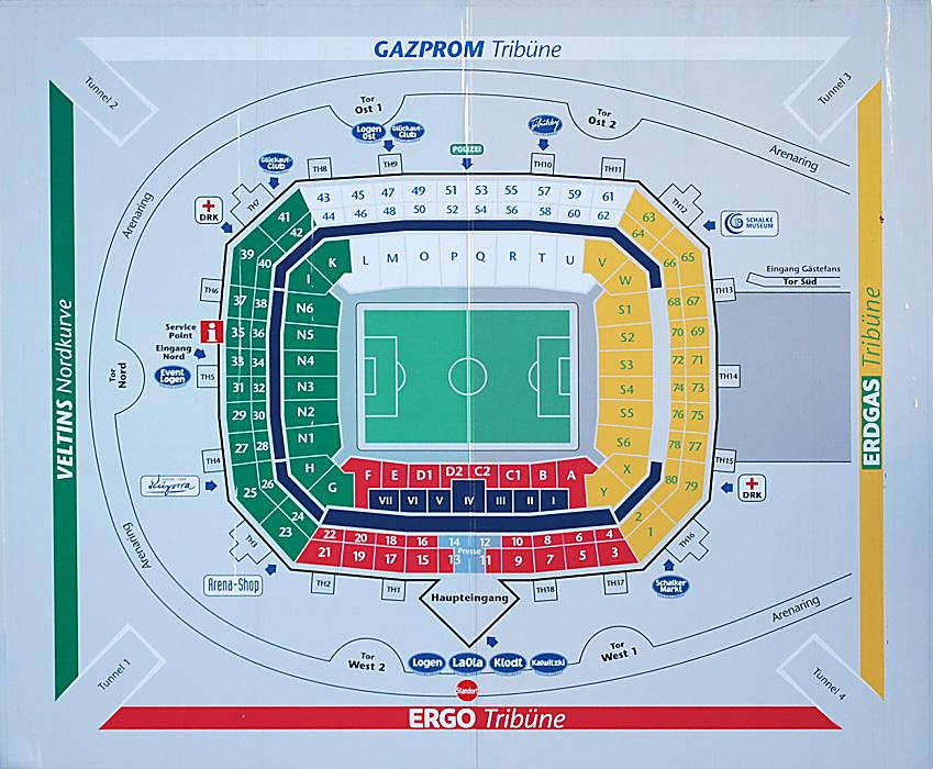 Schalke Stadion Plan