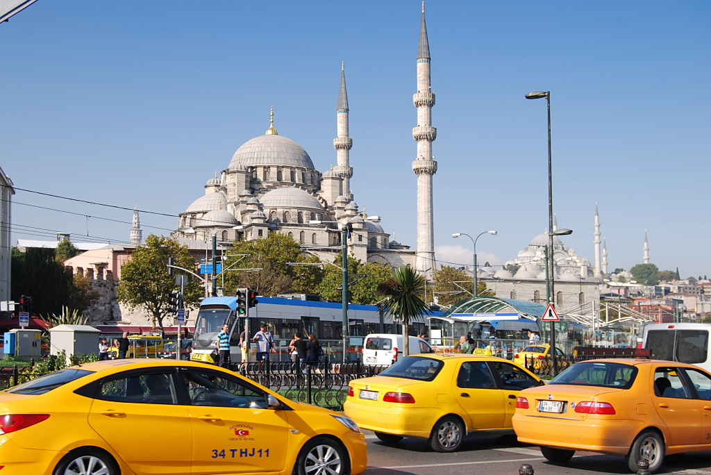 Taxis sind in Istanbul gelb