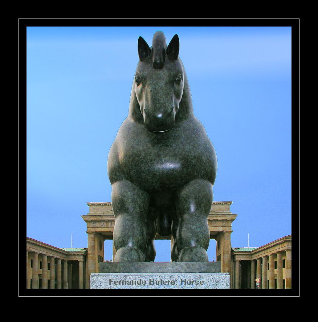 Fernando Botero - Horse, Skulptur