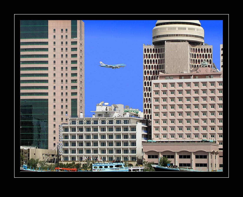 Dubai: Landung B747