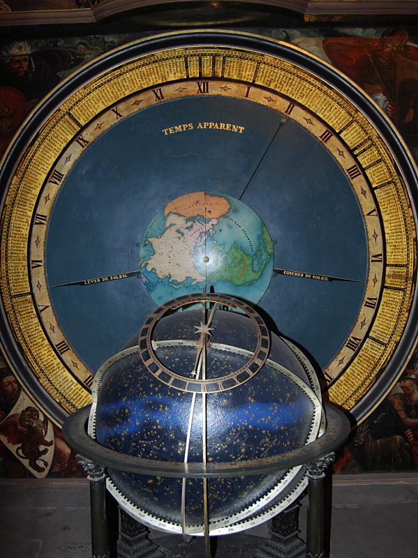 Stra 223 Burg Astronomische Uhr Himmelsglobus