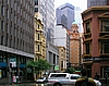 In der City von Sydney unterwegs: George St/Hunter St