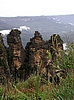 Three Sisters Felsformation in den Blue Mountains.