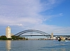 Sydney Harbour Bridge mit Milsons Point und Dawes Point